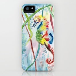 Colorful Seahorse iPhone Case