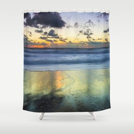Sea storm approaches Shower Curtain