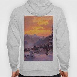 Hans Gude Painting -  Vinterettermiddag 1847  | Reproduction | Norwegian Art Hoody