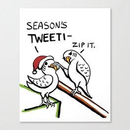 Season's Tweetings Canvas Print