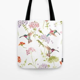 Hummingbird floral Tote Bag