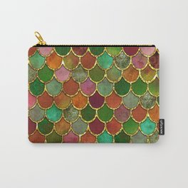 Greens & Gold Mermaid Scales Carry-All Pouch