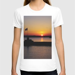 A beautiful sunset view of Lough Neagh T-shirt