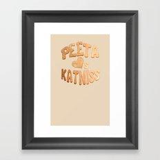 Peeta Loafs Katniss Framed Art Print
