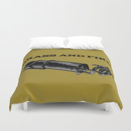 Brass and Fire Pressure Stove Duvet Cover