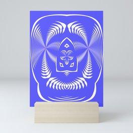 Shield, blue Mini Art Print