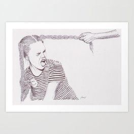 Plaits and Stripes Art Print
