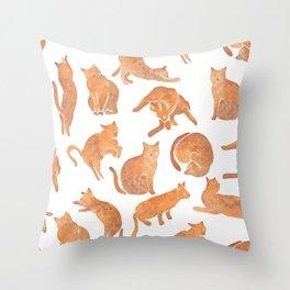 Cat Poses Throw Pillow