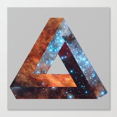 Impossible galaxy triangle Canvas Print