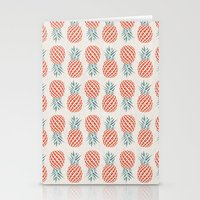 kitchen Stationery Cards featuring Pineapple  by basilique