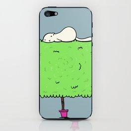 Cat on a bush iPhone Skin