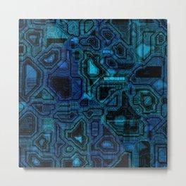 Blue Future Metal Print