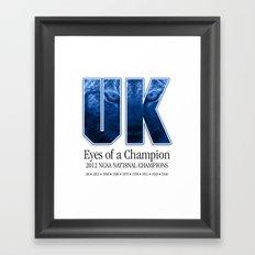 Eyes of a Champion Framed Art Print