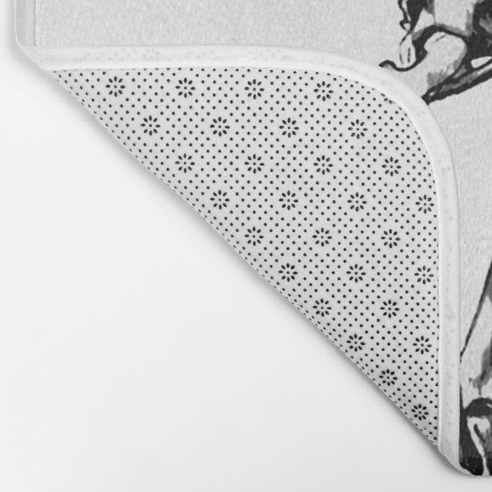 Kissing Skeleton Bath Mat