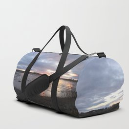 Panoramic Sunset on the Cove Duffle Bag