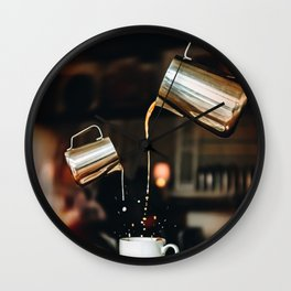 Pour Me Some Coffee Please Wall Clock