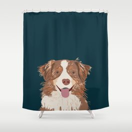 Hollis - Australian Shepherd gifts for dog owners pet lovers dog people gifts for dog person Shower Curtain