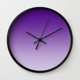 Violet to Pastel Violet Horizontal Linear Gradient Wall Clock