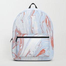 Blue Orange Marble Retro Marble Paper Backpack
