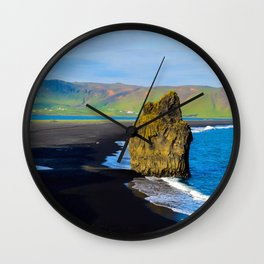 reynisfjara beach Wall Clock