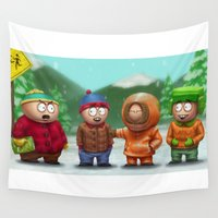 boys Wall Tapestries featuring SP Boys by Denzel A Jackson