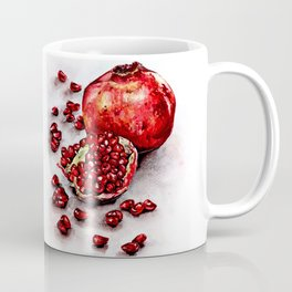 Red pomegranate watercolor art painting Coffee Mug