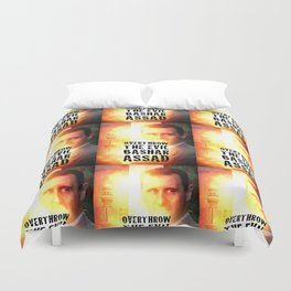 Bashar Assad Is Evil Duvet Cover
