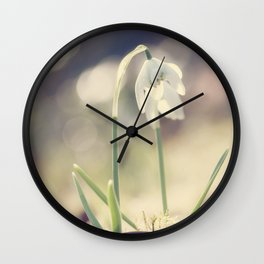 Fairies this way- Snowdrop- Flower- Spring Wall Clock