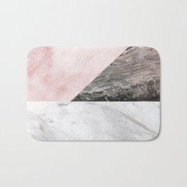 Smokey marble blend - pink and grey stone Bath Mat