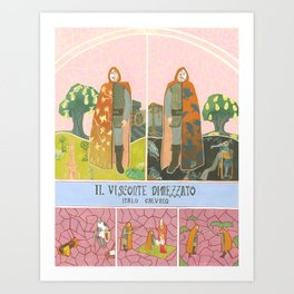 Il Visconte Dimezzato (The cloven viscount) Art Print