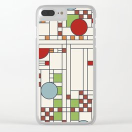 Frank lloyd wright pattern S02 Clear iPhone Case