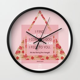 Connected Soul - Love Triangle Wall Clock