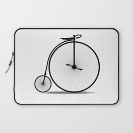 Penny Farthing Silhouette Laptop Sleeve