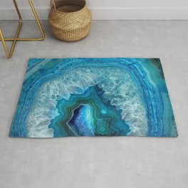 Turquoise Blue Agate Rug