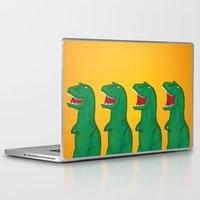 t rex Laptop & iPad Skins featuring T-Rex by Yana Elkassova