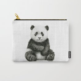 Panda Baby Watercolor Carry-All Pouch