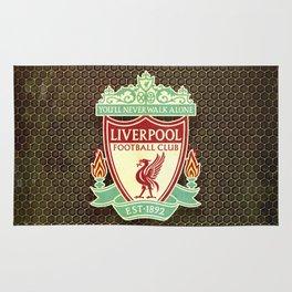 FC Liverpool metal background Rug