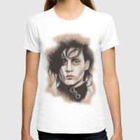 edward scissorhands T-shirts featuring Edward Scissorhands by Stephanie Nuzzolilo