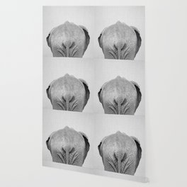 Elephant Tail - Black & White Wallpaper