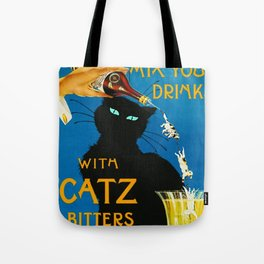 Mix Your Drinks with Catz (Cats) Bitters Aperitif Liquor Vintage Advertising Poster Tote Bag