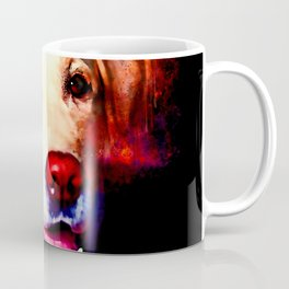 labrador retriever dog winking splatter watercolor Coffee Mug