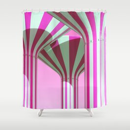 Pink Water Towers Shower Curtain