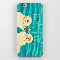 otters iPhone & iPod Skins featuring High Five / Sea Otters by Alissa Thiele