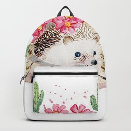 Camouflage - Hedgehog and Cactus Backpack