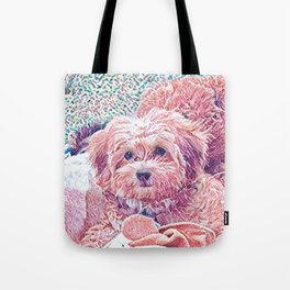 Copper the havapookie as a puppy Tote Bag