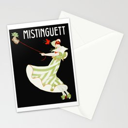 Vintage French Actress Ad Poster Stationery Cards