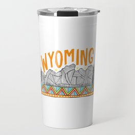 Teton Range, Wyoming Travel Mug