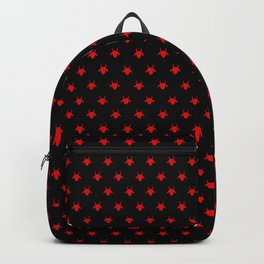 goat patterns black and red 1 Backpack