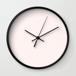 Bowl of Beauty ~ Cream Coordinating Solid Wall Clock