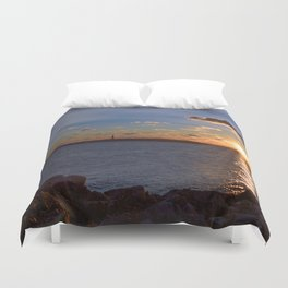 Twin Light Sunrise Duvet Cover